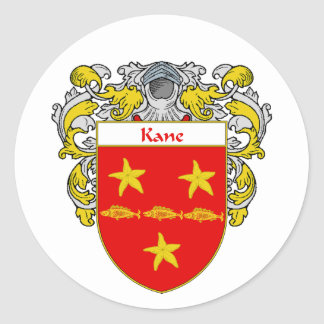 Kane Coat of Arms (Mantled) Classic Round Sticker