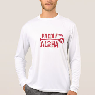 Kane Paddle with Aloha Rash Guard (Red) T-Shirt