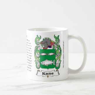 Kane, the origin, meaning and the crest classic white coffee mug