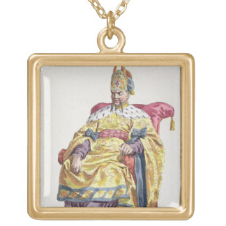 Kang Tsi (1662-1722) Manchu Emperor of China from Gold Plated Necklace
