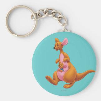 Kanga and Roo Basic Round Button Keychain