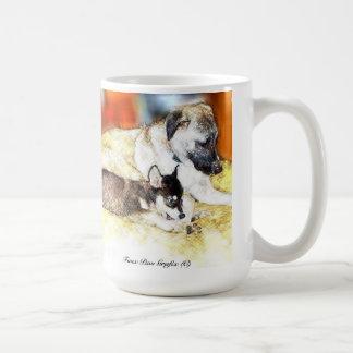 Kangal (Anatolian Shepherd) with Husky/Malamute Classic White Coffee Mug