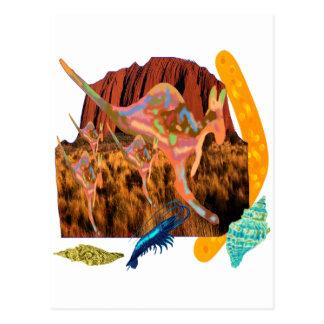 kangaroo,Aborigin,Australia collection Postcard