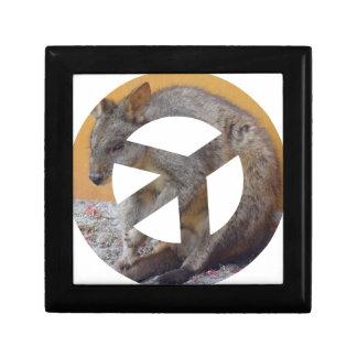 Kangaroo and Animal Peace Sign Gift Box