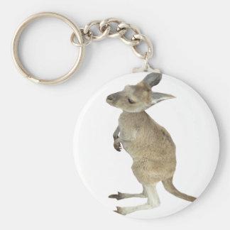 Kangaroo and Animal Peace Sign Keychain