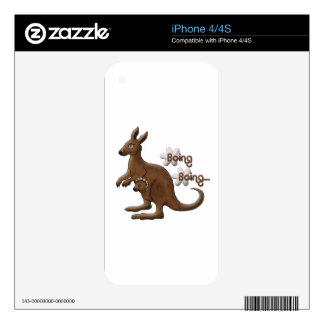 Kangaroo and Baby Kangaroo in Pouch iPhone 4 Skin