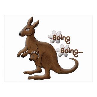Kangaroo and Baby Kangaroo in Pouch Postcards