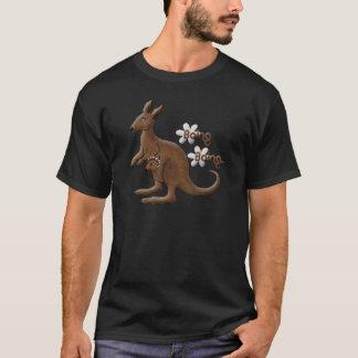 Kangaroo and Baby Kangaroo in Pouch T-Shirt