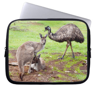 Kangaroo_And_Emu_10_Inch_Laptop_Sleeve Computer Sleeve