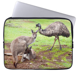 Kangaroo_And_Emu_13_Inch_Laptop_Sleeve Laptop Sleeve