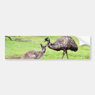 Kangaroo_And_Emu,_ Bumper Sticker