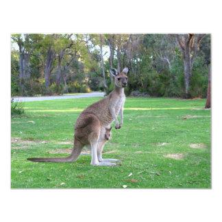 Kangaroo and Joey Card