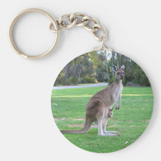 Kangaroo and Joey Keychain