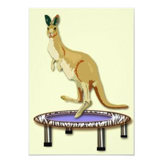 Kangaroo and Trampoline Invitations