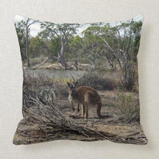 Kangaroo At The Billabong, Large Throw Cushion. Throw Pillow