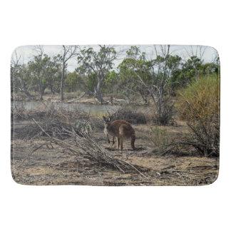 Kangaroo At The Billabong, Lge Memory Bath Mat