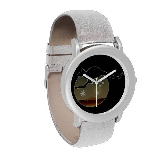 Kangaroo Aussie Icon Glitter Watch