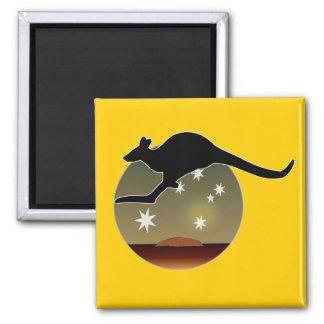 Kangaroo Aussie Icon Magnet