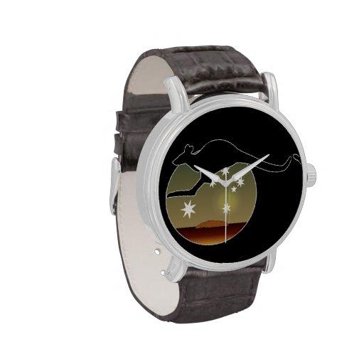 Kangaroo Aussie Icon Vintage Leather Strap Watch