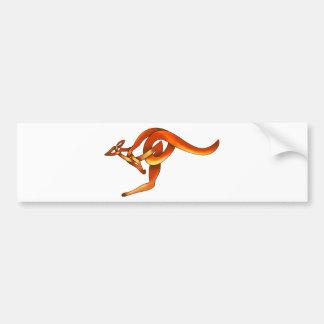 Kangaroo Bumper Sticker