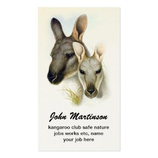kangaroo business card standard business cards