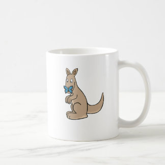 Kangaroo butterfly coffee mug