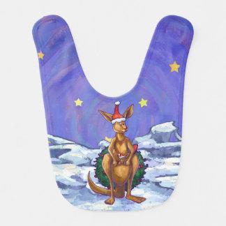 Kangaroo Christmas Starry Night Baby Bib