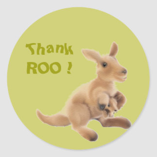 Kangaroo Collection Classic Round Sticker