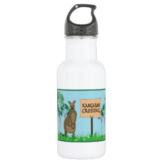 Kangaroo Crossing 18oz Water Bottle