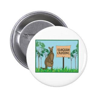Kangaroo Crossing Pin