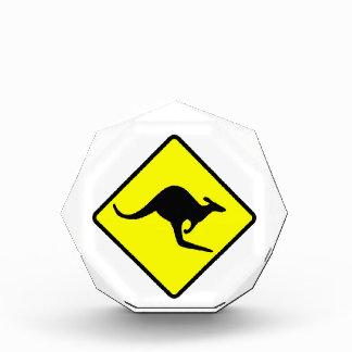 KANGAROO CROSSING - down under/oz/australia/aussie Acrylic Award