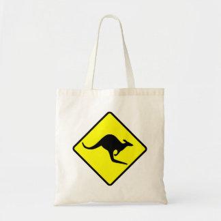 KANGAROO CROSSING - down under/oz/australia/aussie Tote Bags