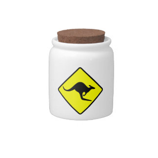KANGAROO CROSSING - down under/oz/australia/aussie Candy Jar