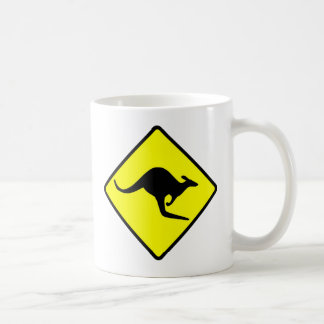 KANGAROO CROSSING - down under/oz/australia/aussie Coffee Mug