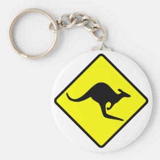 KANGAROO CROSSING - down under/oz/australia/aussie Keychain