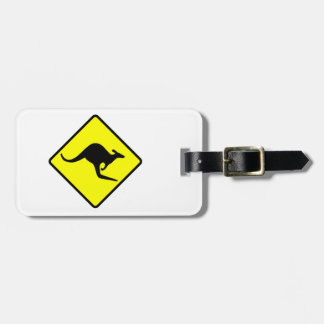 KANGAROO CROSSING - down under/oz/australia/aussie Luggage Tag