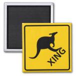 Kangaroo Crossing Highway Sign Magnet