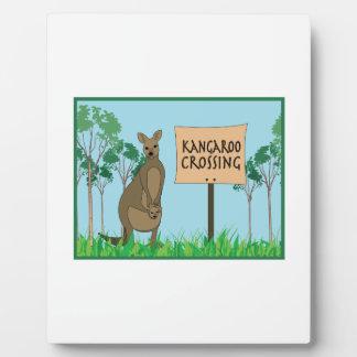 Kangaroo Crossing Photo Plaques