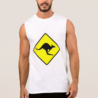 KANGAROO CROSSING -roo/wallaby/australia/oz/aussie Sleeveless T-shirt