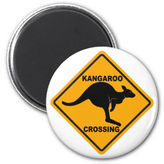 Kangaroo Crossing Sign Magnet