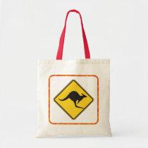 Kangaroo Crossing Tote Bag