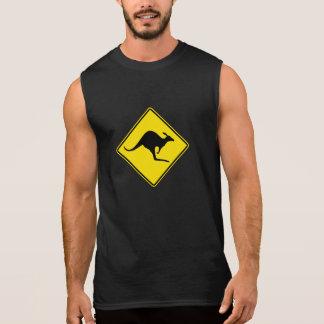 Kangaroo Crossing, Traffic Warning Sign, Australia Sleeveless Shirt