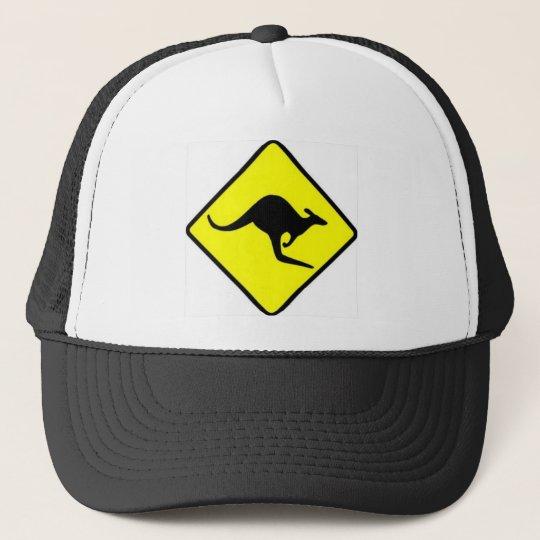 Kangaroo Crossing Trucker Hat