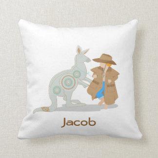 Kangaroo customizable pillow