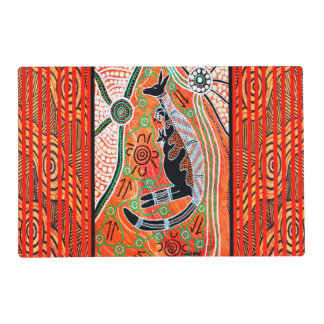 Kangaroo Dreaming Double Sided Placemat