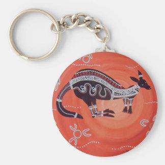 Kangaroo Dreaming Key Chain