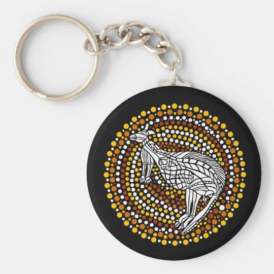 Kangaroo Dreamtime Keychain