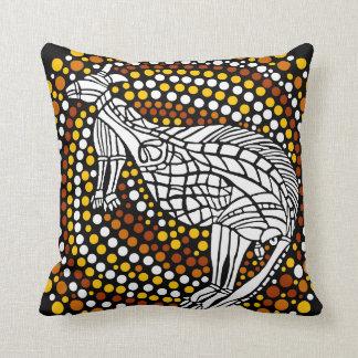 Kangaroo Dreamtime Throw Pillow