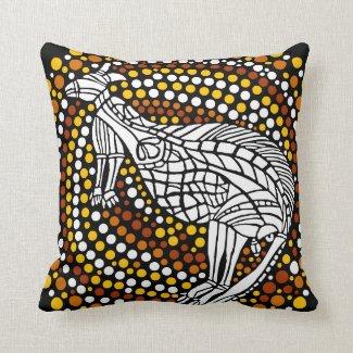 Kangaroo Dreamtime Throw Pillows