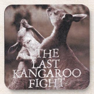 Kangaroo fight drink coasters